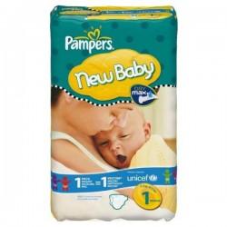 Pack d'une quantité de 23 Couches Pampers New Baby taille 1 sur Promo Couches