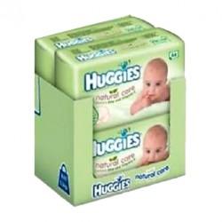 Pack 256 Lingettes Bébés d'Huggies Natural Care - 4 Packs de 64 sur Promo Couches