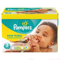 Pack 54 Couches de Pampers New Baby de taille 3 sur Promo Couches