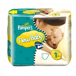 Pack de 74 Couches Pampers New Baby taille 1 sur Promo Couches