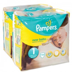 Maxi Pack de 148 Couches Pampers New Baby de taille 1 sur Promo Couches