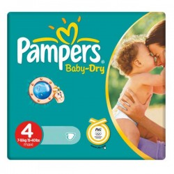 Pack de 44 Couches Pampers Baby Dry de taille 4