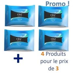 Pack de 80 Lingettes démaquillantes Olaz Essentiels - 4 Pack de 20 sur Promo Couches