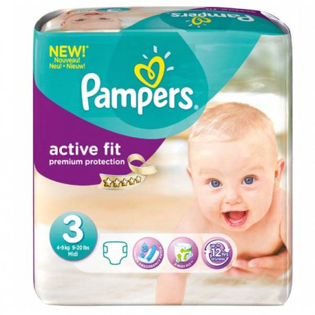 Couches pampers active fit taille 3 bas prix 42 couches sur promo couches - Promo couche pampers auchan ...