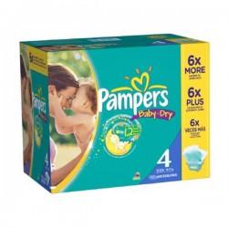 Pack économique de 264 Couches Pampers Baby Dry de taille 4 sur Promo Couches