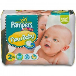 Pack de 72 Couches de Pampers New Baby Dry de taille 2