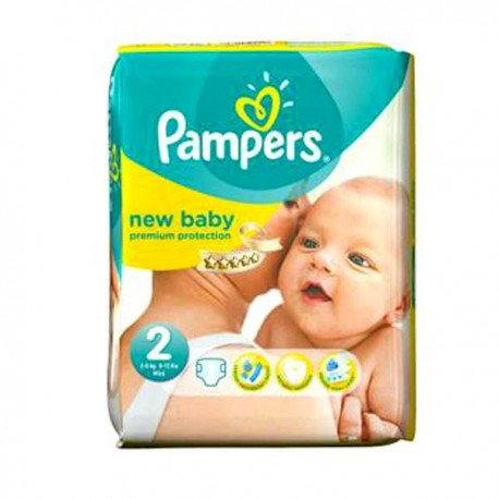 Pack 44 Couches Pampers New Baby taille 2 sur Promo Couches