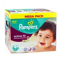 Pack de 250 Couches de Pampers Active Fit taille 4+