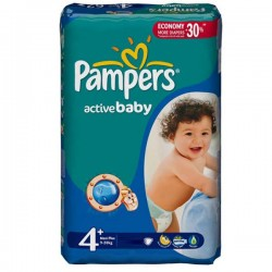 Pack 32 couches Pampers Active Baby