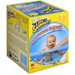Pack 6 Couches de bains de la marque Huggies Mini de taille 2 sur Promo Couches