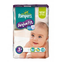 Maxi Pack 320 Couches Pampers Active Fit de taille 3+ sur Promo Couches