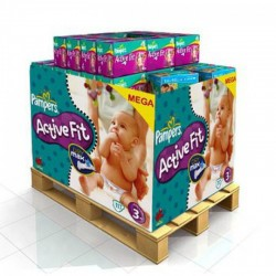 Maxi Giga Pack 336 couches Pampers Active Fit