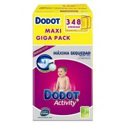 Pack économique de 348 Couches Dodot de la gamme Activity de taille 3