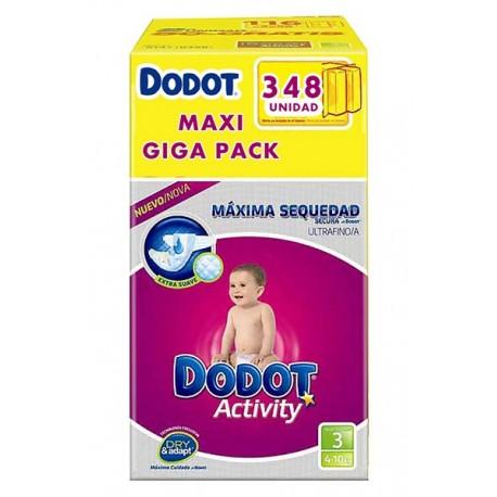 Pack économique de 348 Couches Dodot de la gamme Activity de taille 3 sur Promo Couches