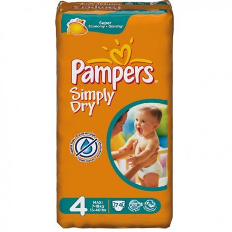 Couches pampers simply dry taille 4 moins cher 74 couches sur promo couches - Couches pampers promotion ...