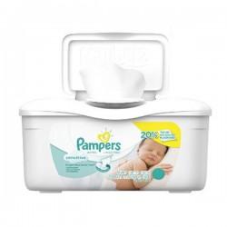 Pack 56 Lingettes Bébés Pampers de la gamme Sensitive sur Promo Couches