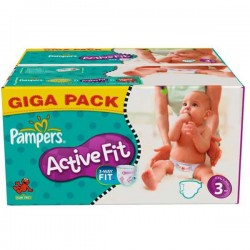 Maxi Pack 372 Couches Pampers Active Fit taille 3 sur Promo Couches