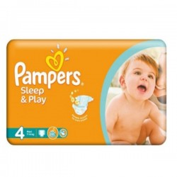 Pack 86 Couches Pampers Sleep & Play de taille 4 sur Promo Couches
