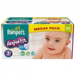 Pack 280 Couches Pampers Active Fit de taille 3+