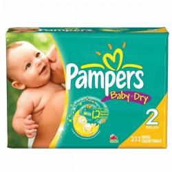 Pack d'une quantité de 232 Couches de la marque Pampers Baby Dry taille 2