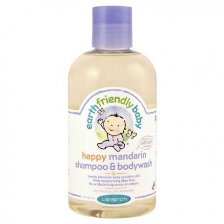Flacon Gel douche EFB - Earth Friendly Baby Bio Mandarine sur Promo Couches