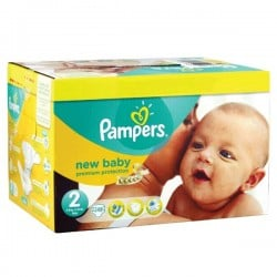 Maxi Pack de 248 Couches Pampers New Baby de taille 2 sur Promo Couches
