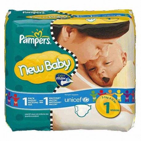 Couches pampers new baby taille 1 en promotion 45 - Prix couches pampers new baby taille 1 ...