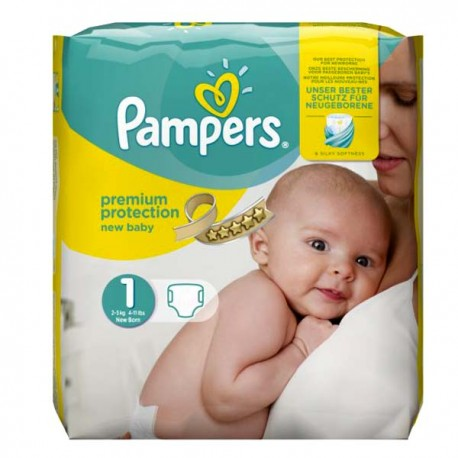 Pack 27 Couches Pampers de la gamme New Baby Dry de taille 1 sur Promo Couches