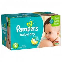 Pack économique de 252 Couches Pampers Baby Dry de taille 2
