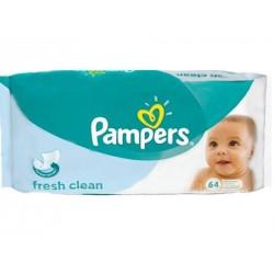 Pack d'une quantité de 64 Lingettes Bébés Pampers Baby Fresh sur Promo Couches