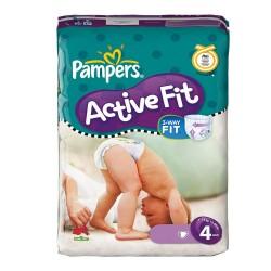Pack d'une quantité de 43 Couches Pampers Active Fit taille 4 sur Promo Couches