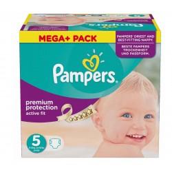 Pack économique de 299 Couches de Pampers Active Fit taille 5 sur Promo Couches