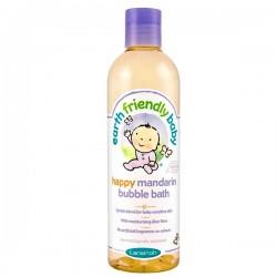Flacon des Bains moussants de la marque EFB - Earth Friendly Baby Bio Mandarine sur Promo Couches