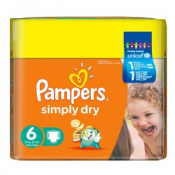 Maxi Giga Pack 124 couches Pampers Simply Dry