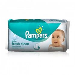 Pack d'une quantité de 64 Lingettes Bébés Pampers Fresh Clean sur Promo Couches
