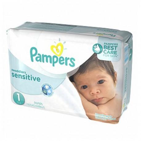 Pack économique 230 Couches de la marque Pampers New Baby Sensitive de taille 1 sur Promo Couches