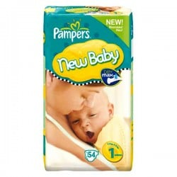 Pack de 54 Couches Pampers New Baby taille 1 sur Promo Couches