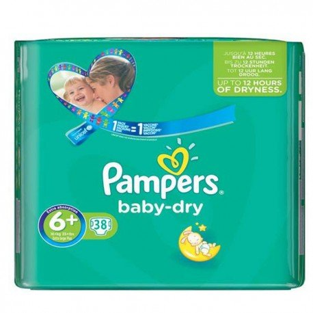 38 couches pampers baby dry taille 6 bas prix sur promo couches - Couches pampers promotion ...