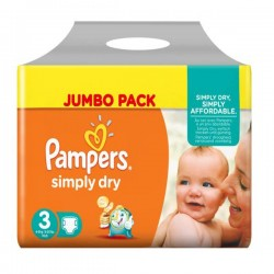 Maxi Giga Pack 280 couches Pampers Simply Dry