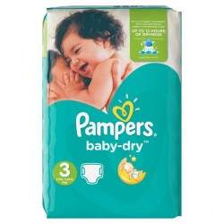 Pack 70 Couches Pampers Baby Dry de taille 3