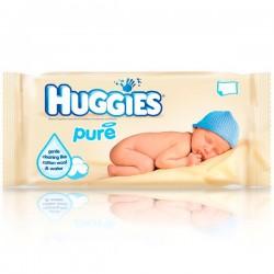 Pack d'une quantité de 56 Lingettes Bébés Huggies Pure sur Promo Couches