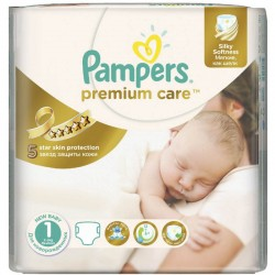 Pack 22 Couches Pampers Premium Care de taille 1 sur Promo Couches