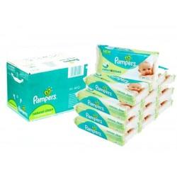 Mega Pack 768 Lingettes Bébés de la marque Pampers Natural Clean sur Promo Couches