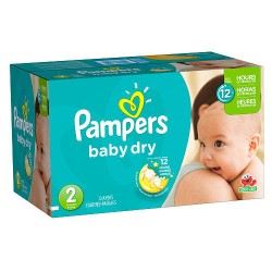 Giga Pack de 396 Couches Pampers Baby Dry de taille 2 sur Promo Couches