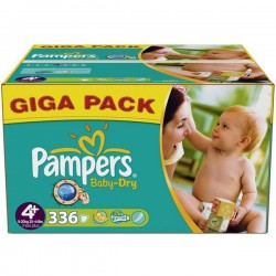Giga Pack 336 Couches de Pampers Baby Dry de taille 4+