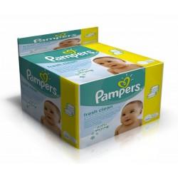Mega Pack de 768 Lingettes Bébés Pampers de la gamme Fresh Clean sur Promo Couches