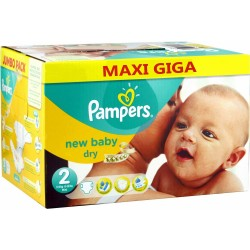 Maxi Giga Pack 320 couches Pampers New Baby taille 2 sur Promo Couches