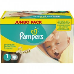 Maxi giga pack 324 Couches de Pampers New Baby Dry taille 1 sur Promo Couches
