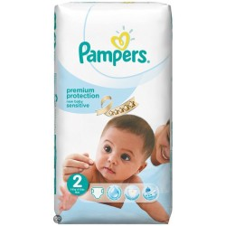 Pack 60 Couches Pampers New Baby Sensitive de taille 2 sur Promo Couches