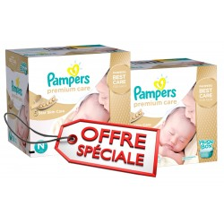 Maxi giga pack de 506 Couches Pampers Premium Care de taille 1